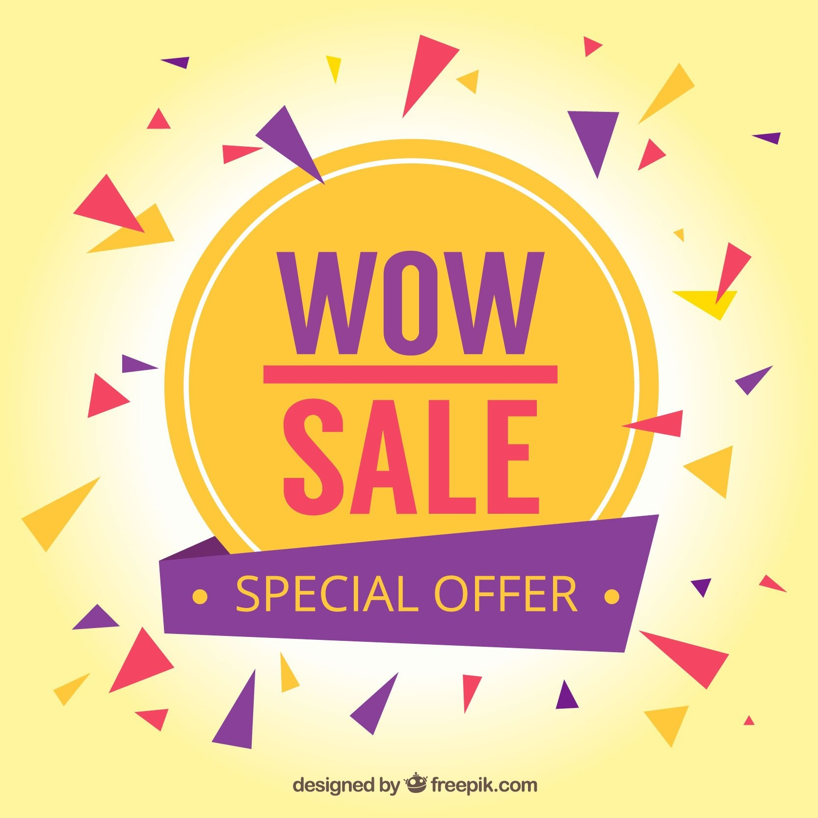 Wow sale special offer banner