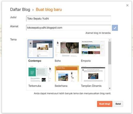 Buat Akun Blog