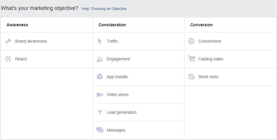 Bagaimana Saya Memilih  Objektif Kampanye Facebook yang Tepat?