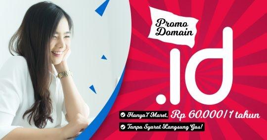 Promo Domain .ID Rp 60.000/ Tahun Tanpa Syarat, Langsung Gas!