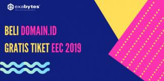 Beli Domain.ID gratis tiket eec 2019
