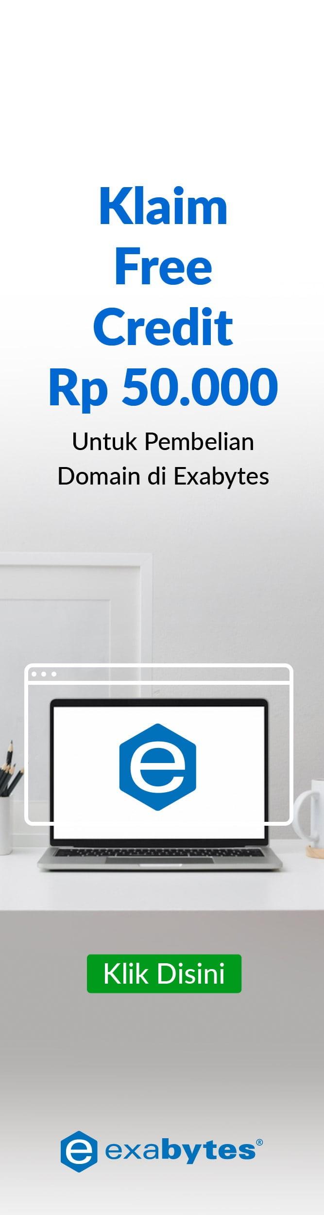 Free Credit Exabytes