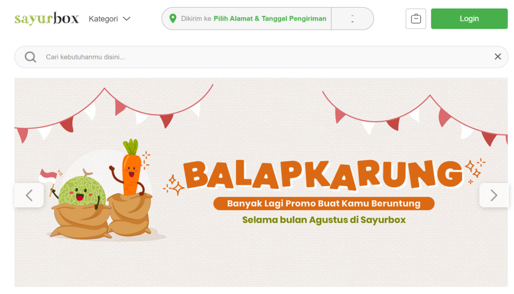 E-Commerce Sayur Box