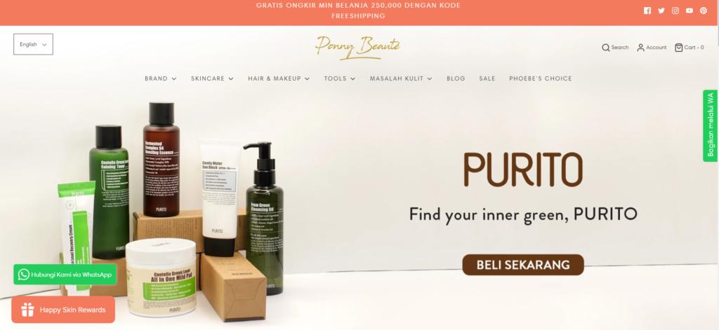 E-Commerce Ponne Beauty Indonesia