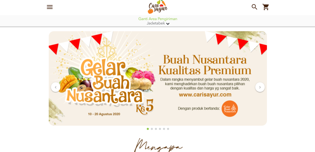 E-Commerce Cari Sayur