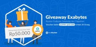 giveaway exabytes berhadiah saldo gopay