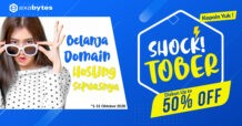 Shocktober Promo, Diskon Up To 50%