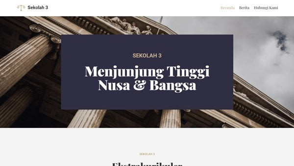 template website sekolah 3